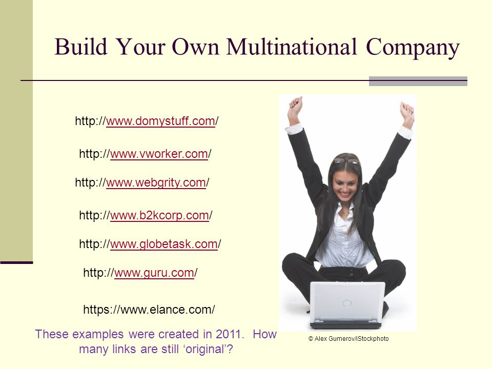 Build Your Own Multinational Company