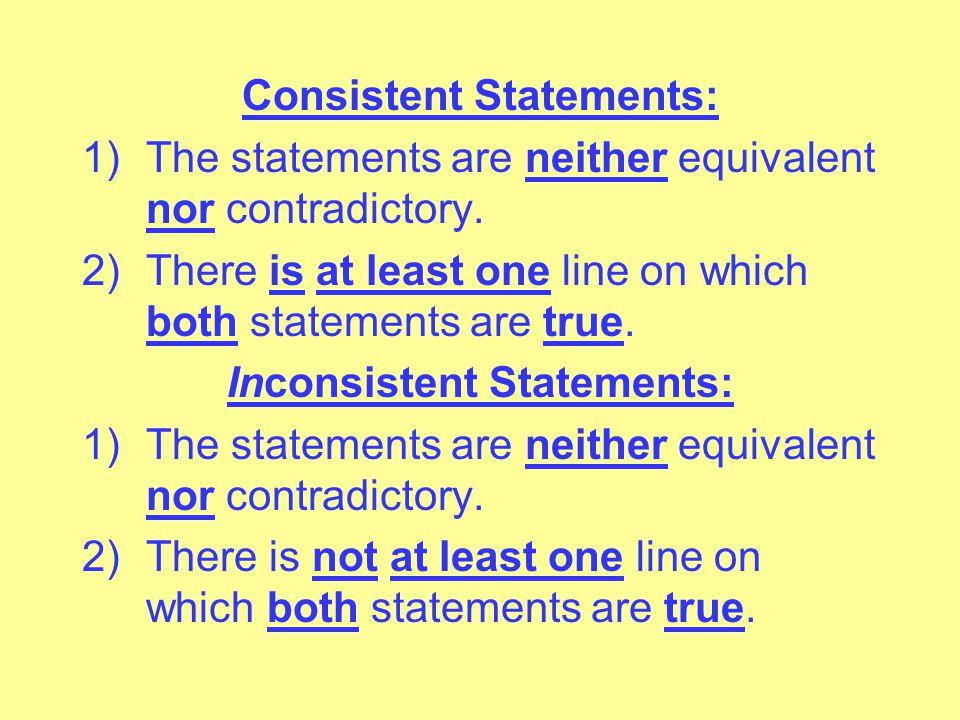 Consistent Statements: