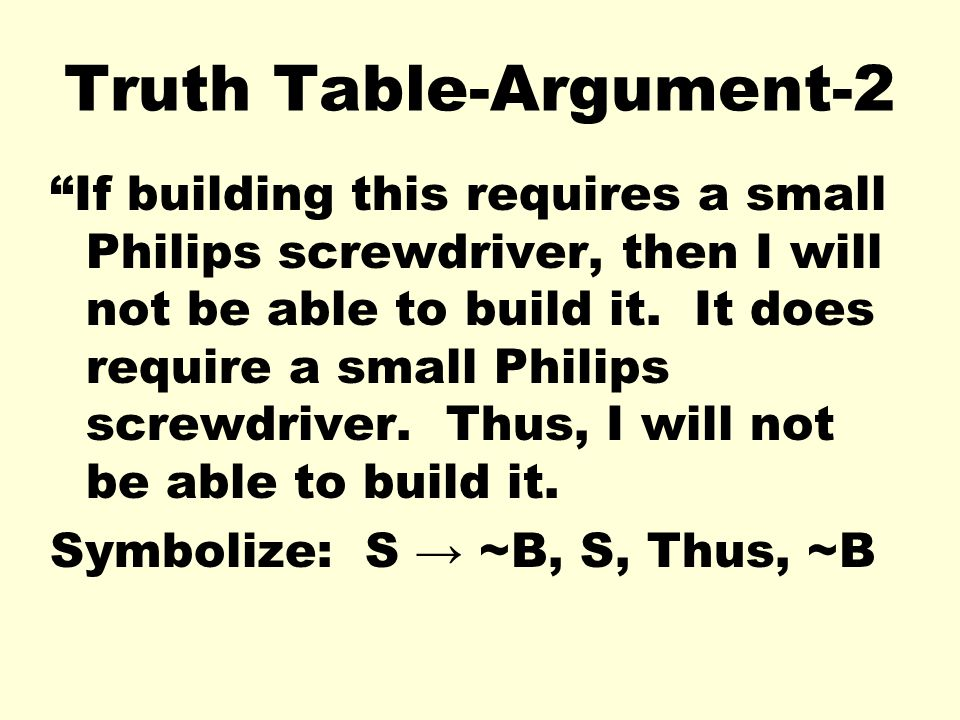 Truth Table-Argument-2