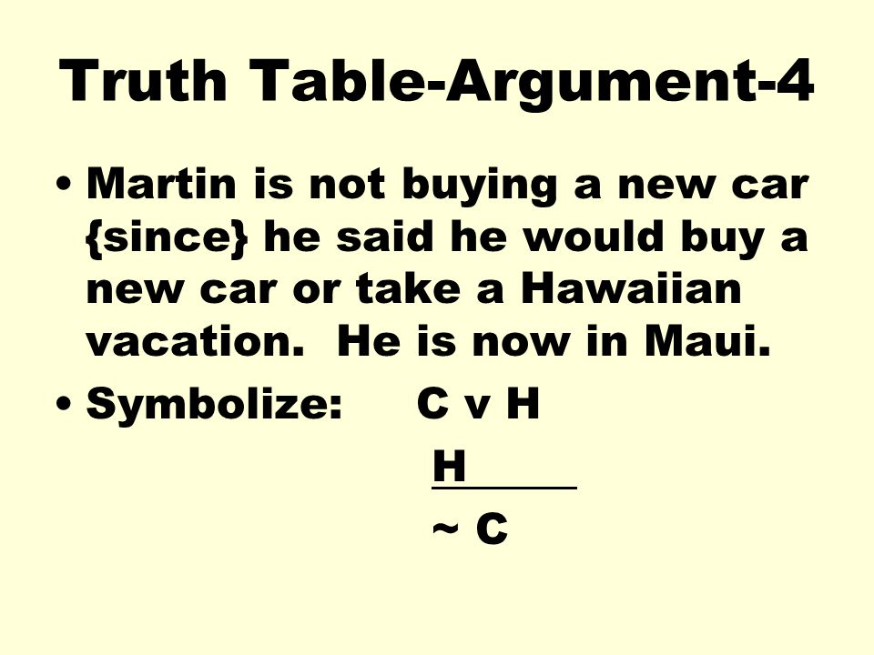 Truth Table-Argument-4
