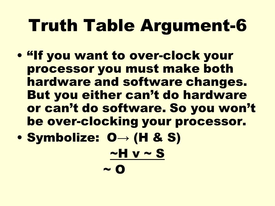 Truth Table Argument-6