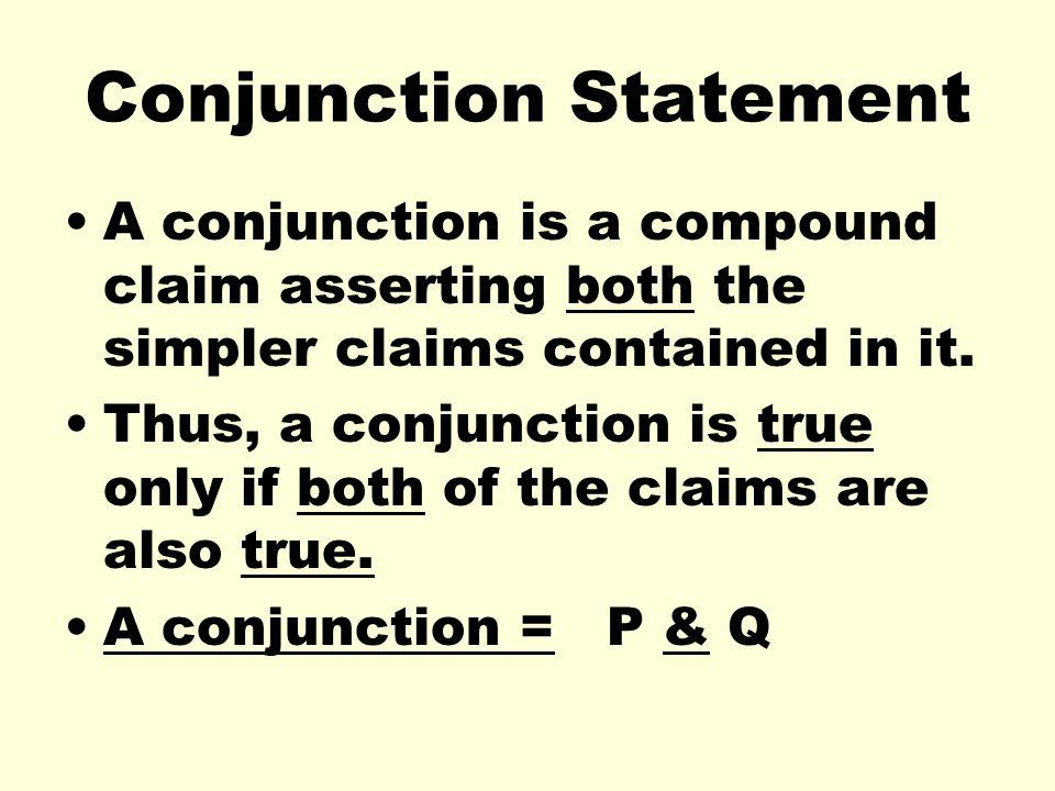 Conjunction Statement