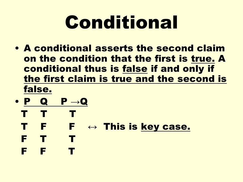 Conditional