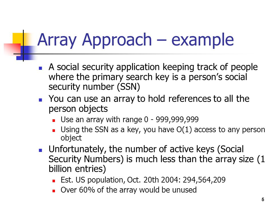 Array Approach – example