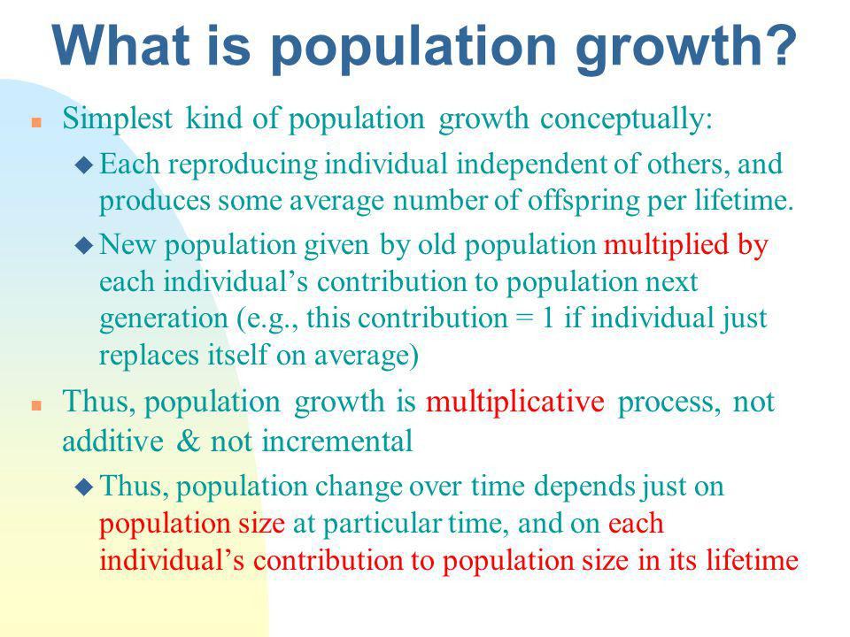 What is population growth