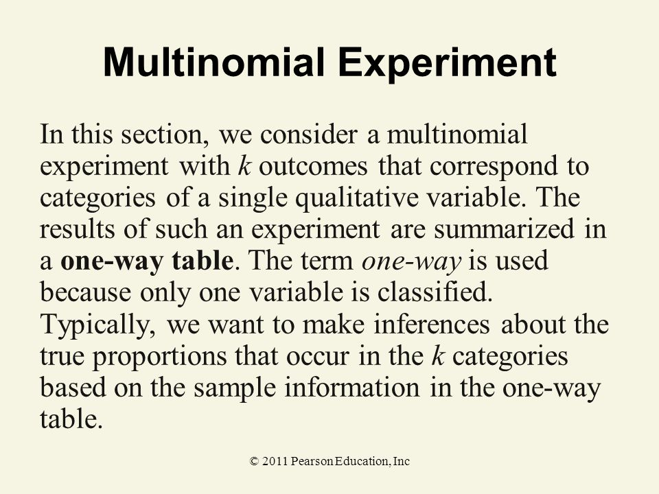 Multinomial Experiment