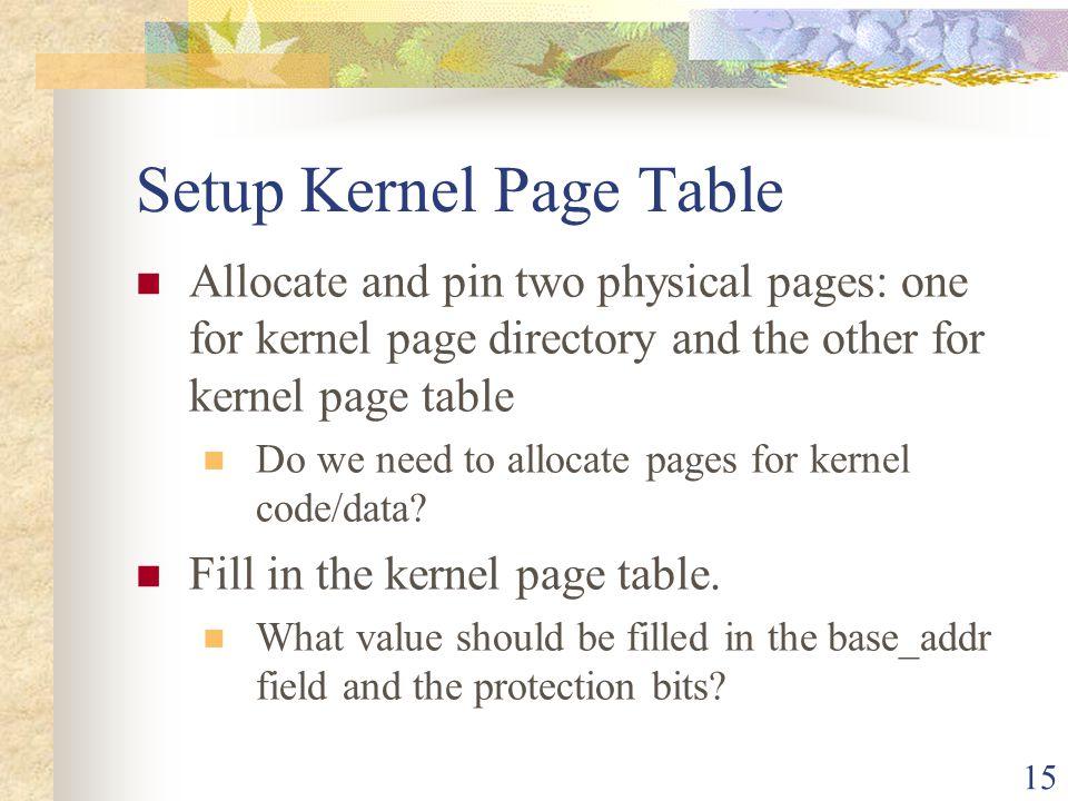 Setup Kernel Page Table
