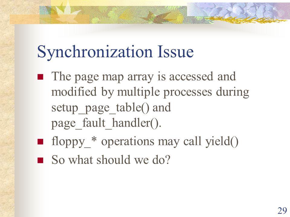 Synchronization Issue
