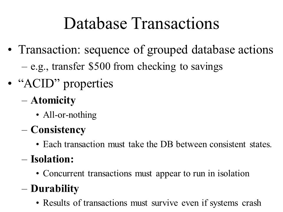 Database Transactions