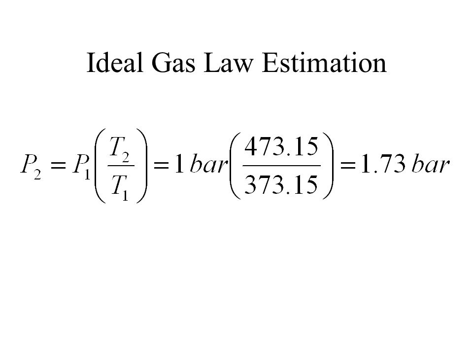 Ideal Gas Law Estimation