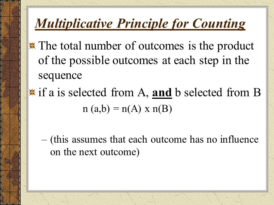 Multiplicative Principle for Counting