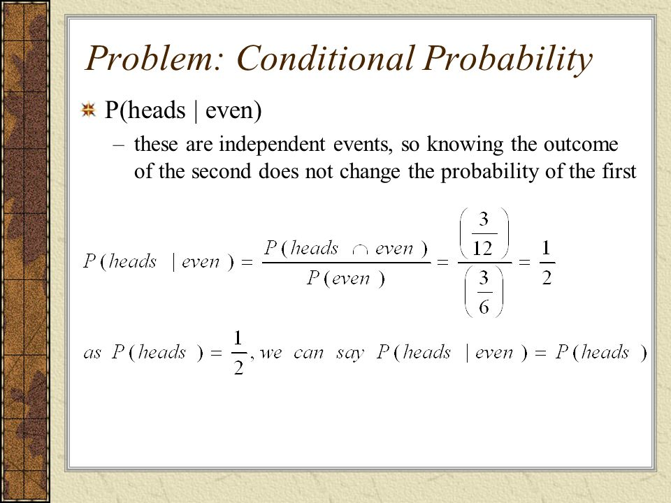 Problem: Conditional Probability