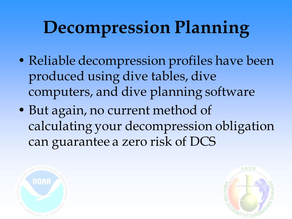 Decompression Planning