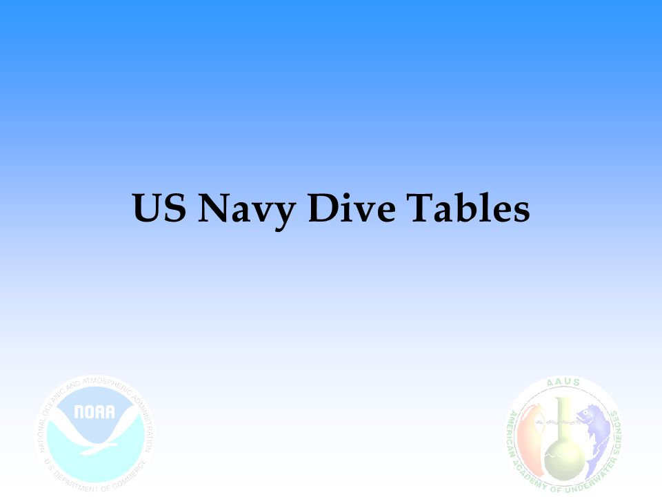 US Navy Dive Tables