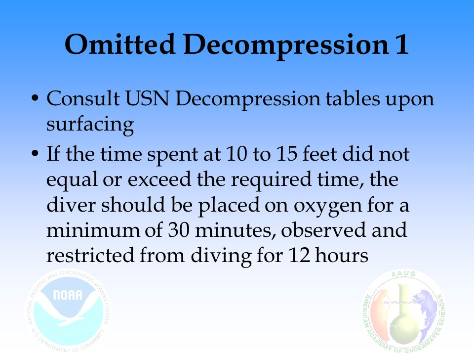 Omitted Decompression 1