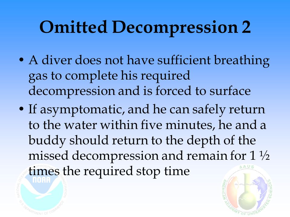 Omitted Decompression 2