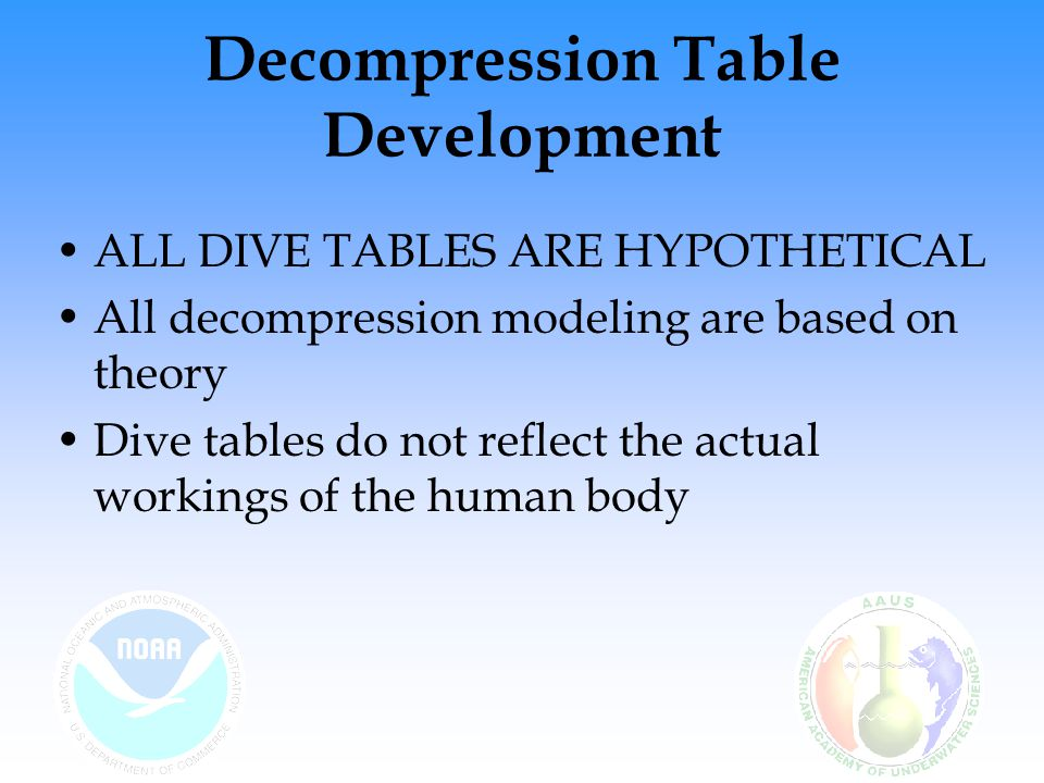 Decompression Table Development