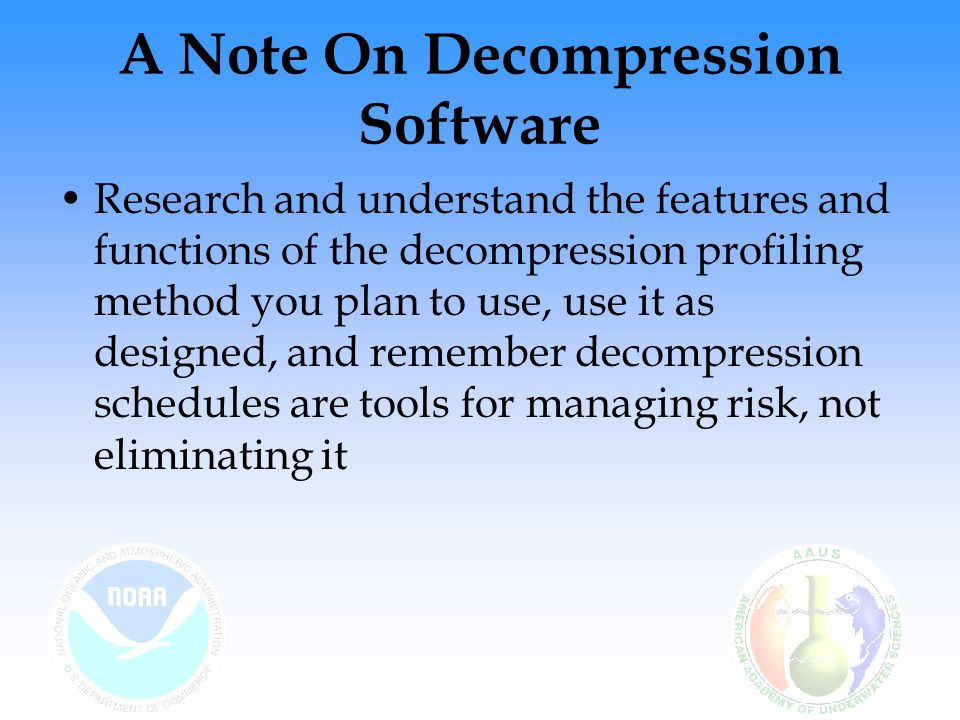 A Note On Decompression Software