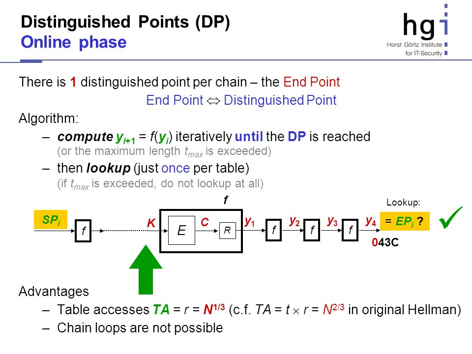 Distinguished Points (DP) Online phase