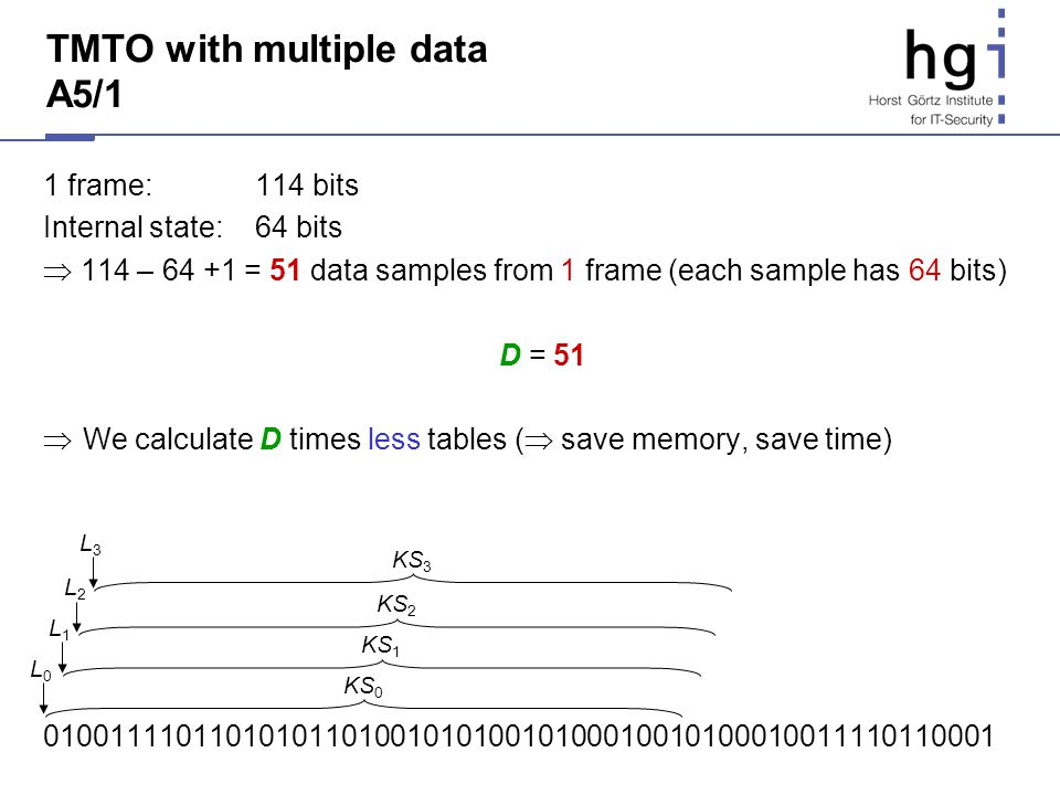 TMTO with multiple data A5/1