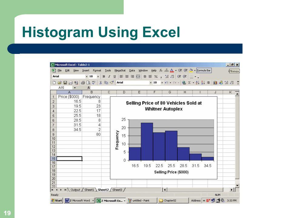 Histogram Using Excel