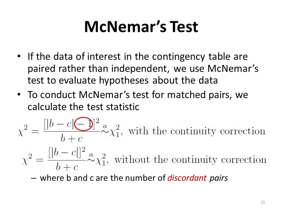McNemar's Test