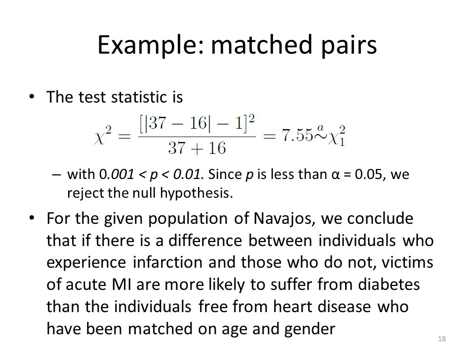 Example: matched pairs