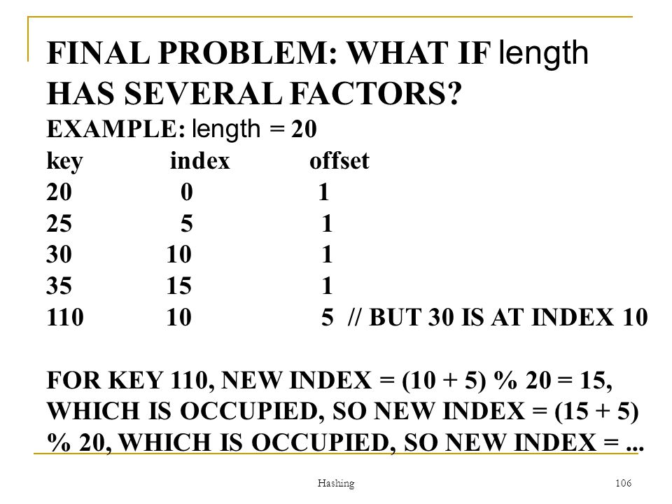 FINAL PROBLEM: WHAT IF length HAS SEVERAL FACTORS