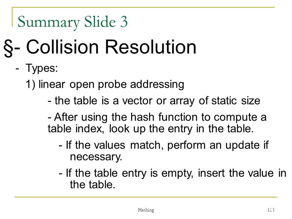 §- Collision Resolution