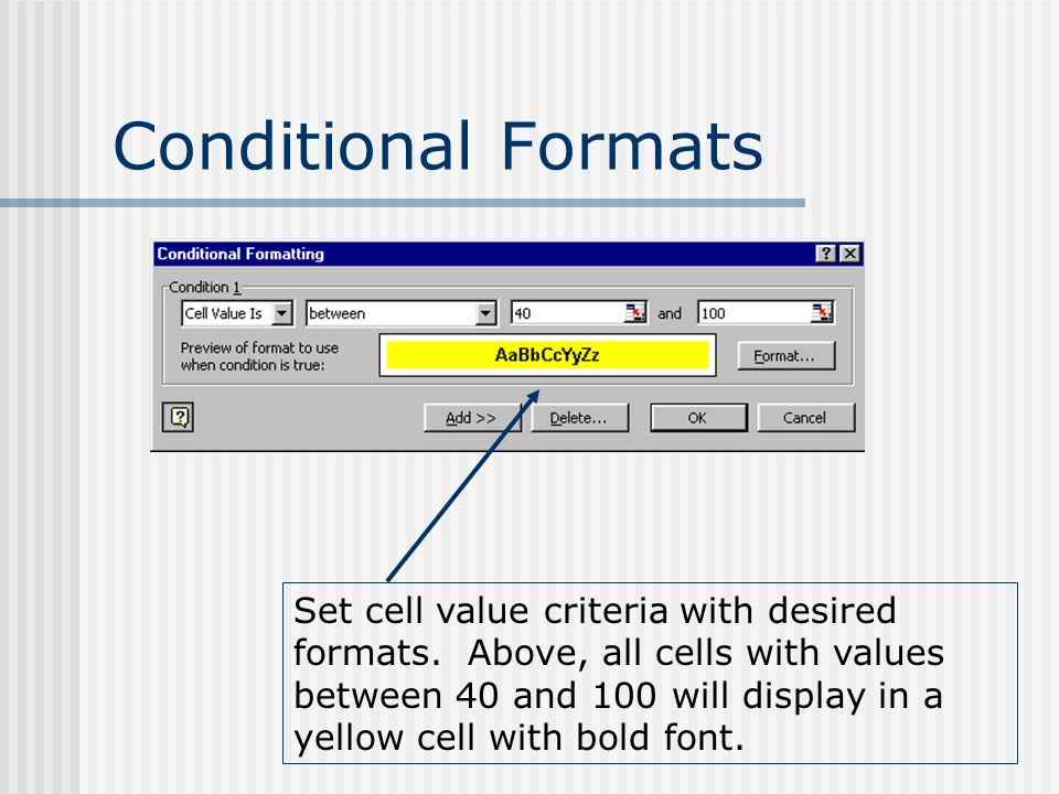 Conditional Formats