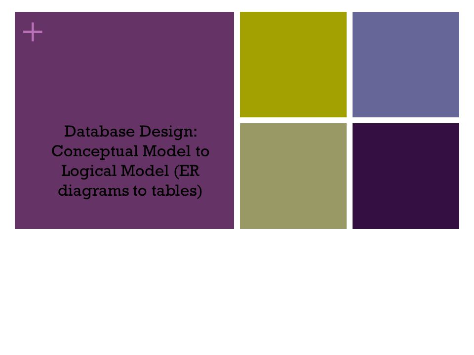 Database Design: Conceptual Model to Logical Model (ER diagrams to tables)