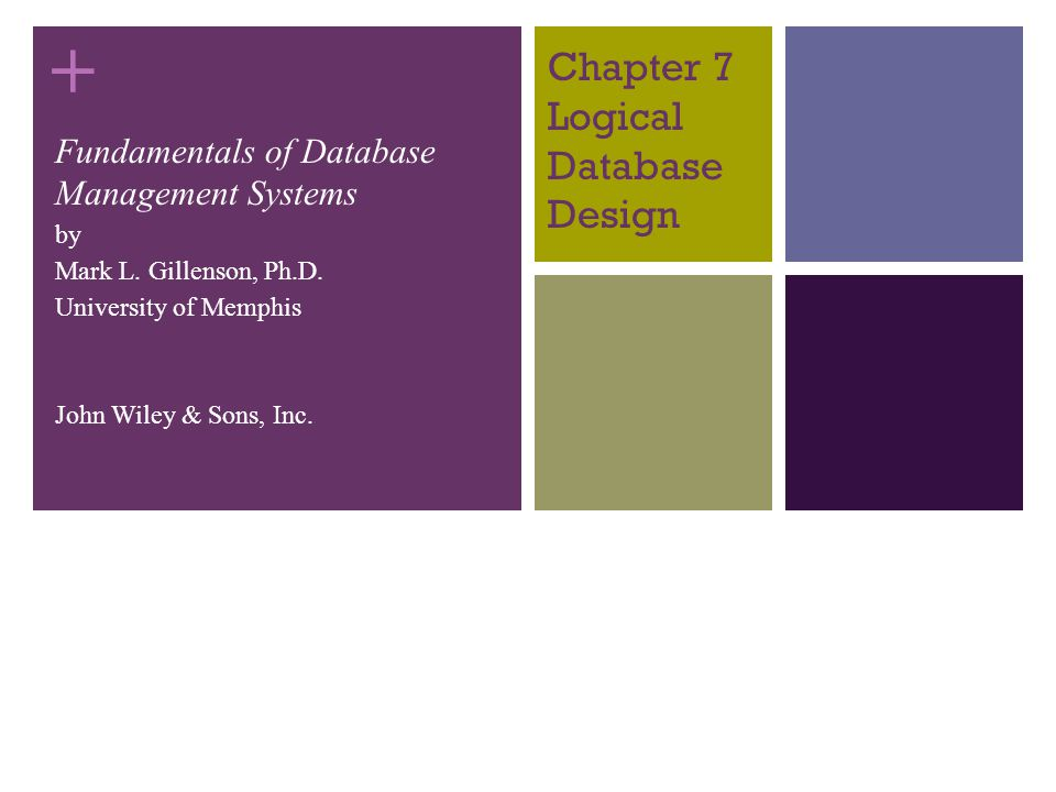 Chapter 7 Logical Database Design