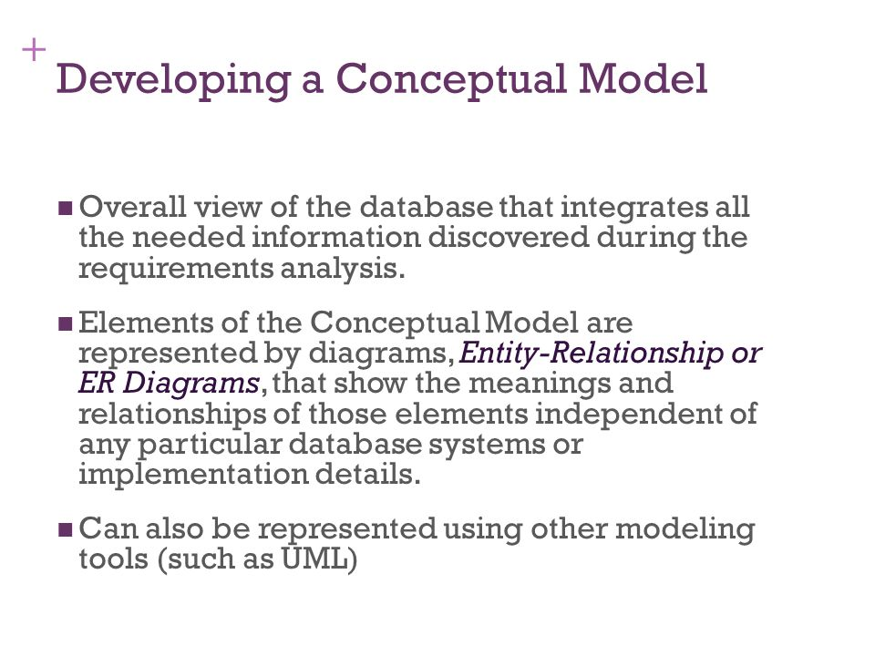 Developing a Conceptual Model