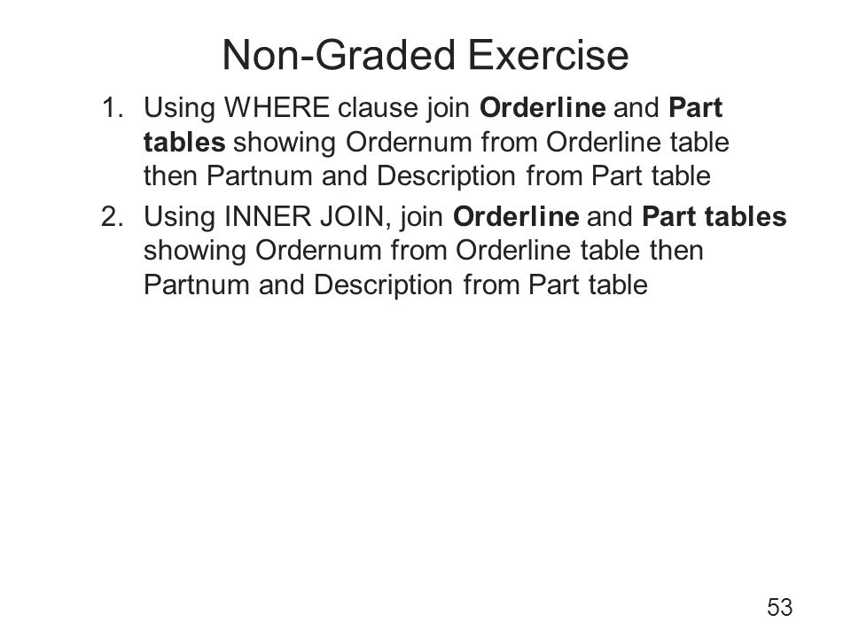 Non-Graded Exercise