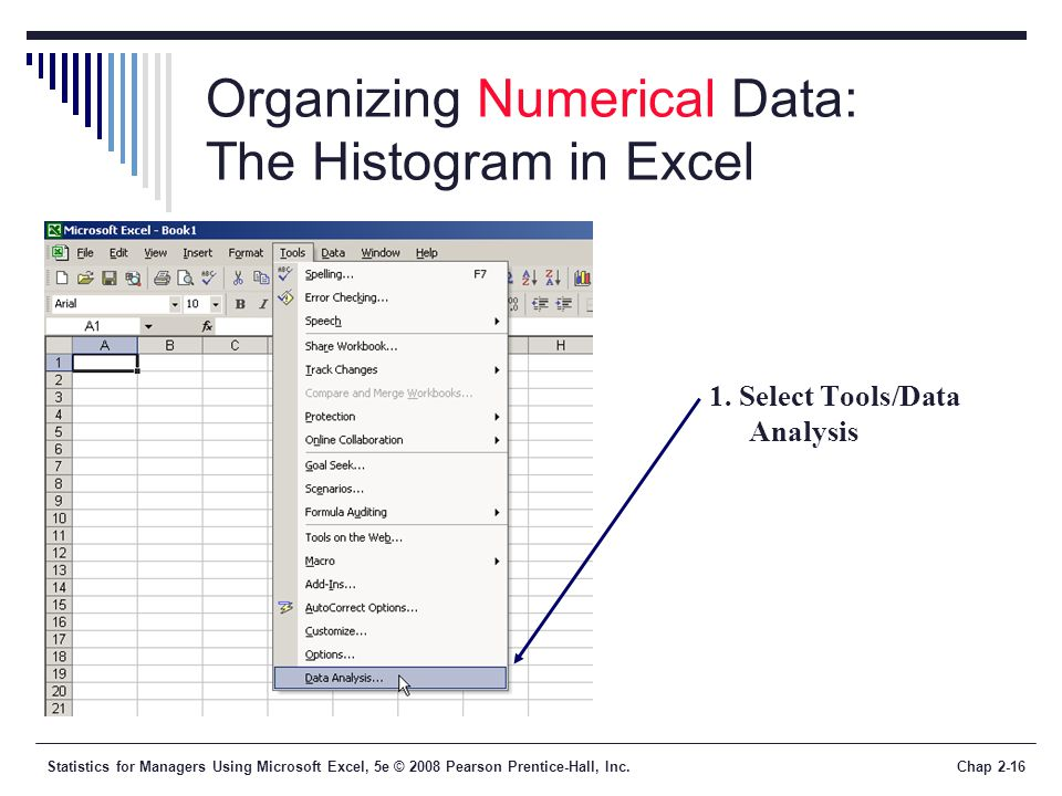 Organizing Numerical Data: The Histogram in Excel