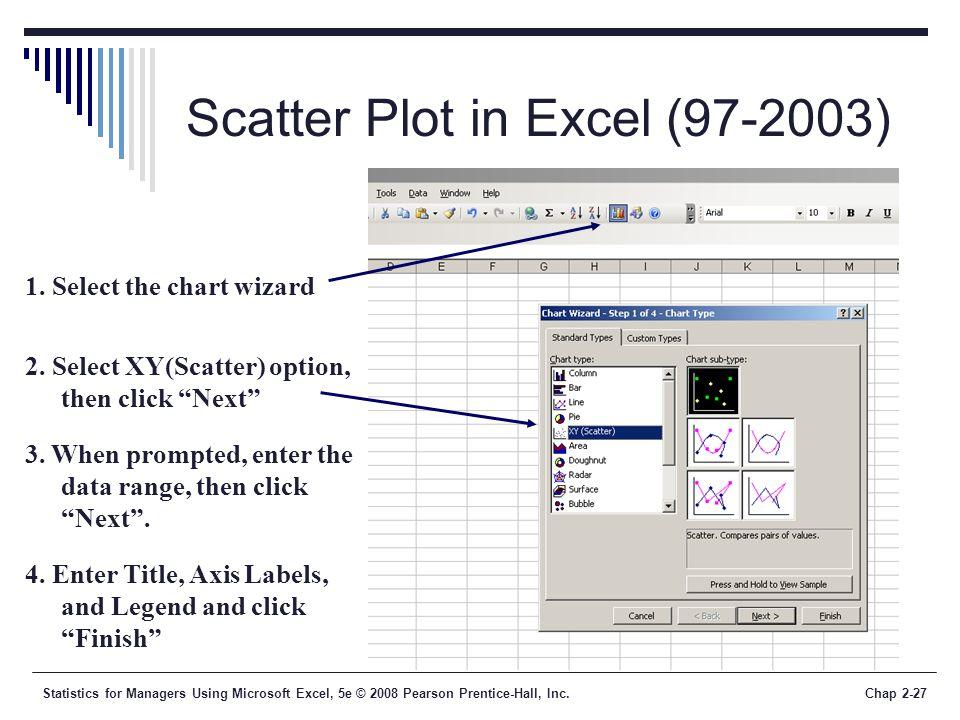 Scatter Plot in Excel (97-2003)