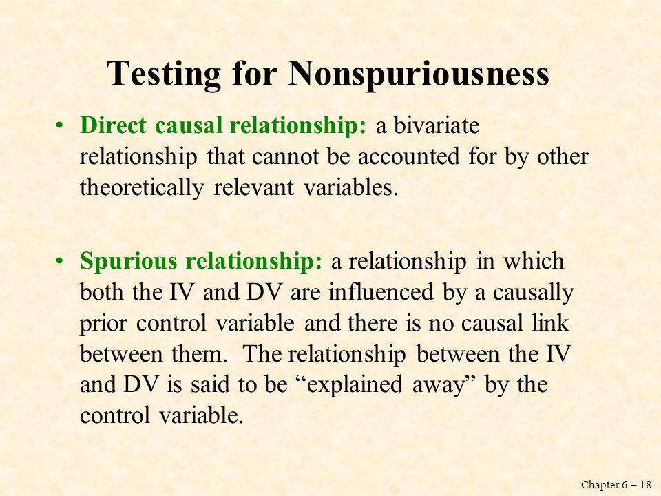 Testing for Nonspuriousness