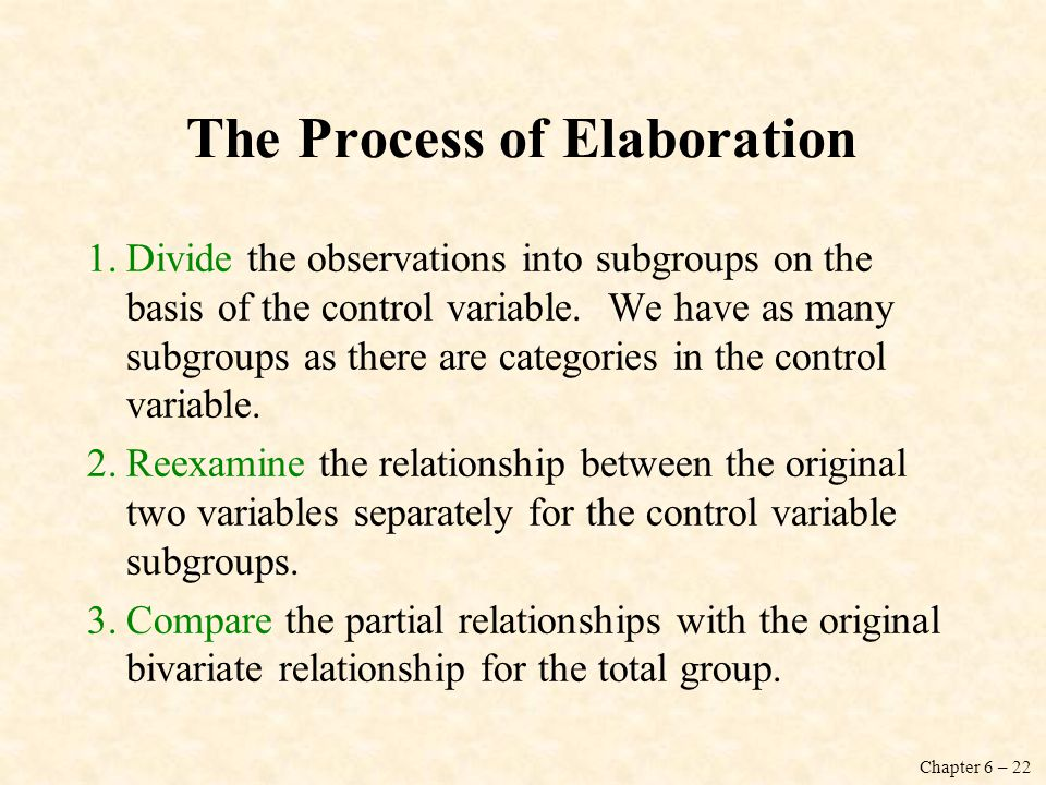 The Process of Elaboration