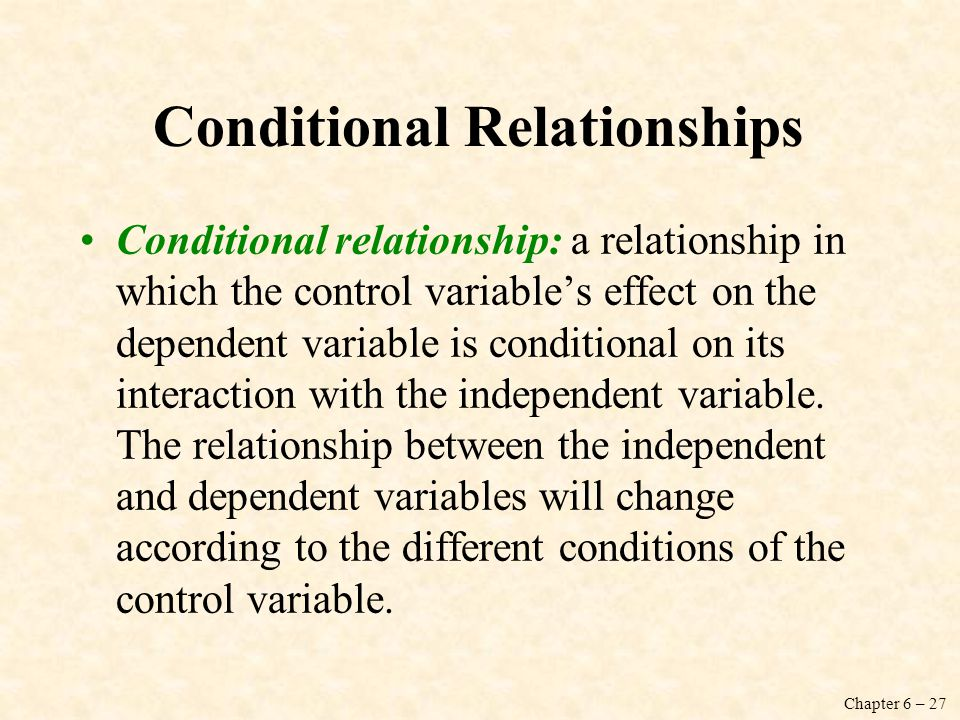 Conditional Relationships