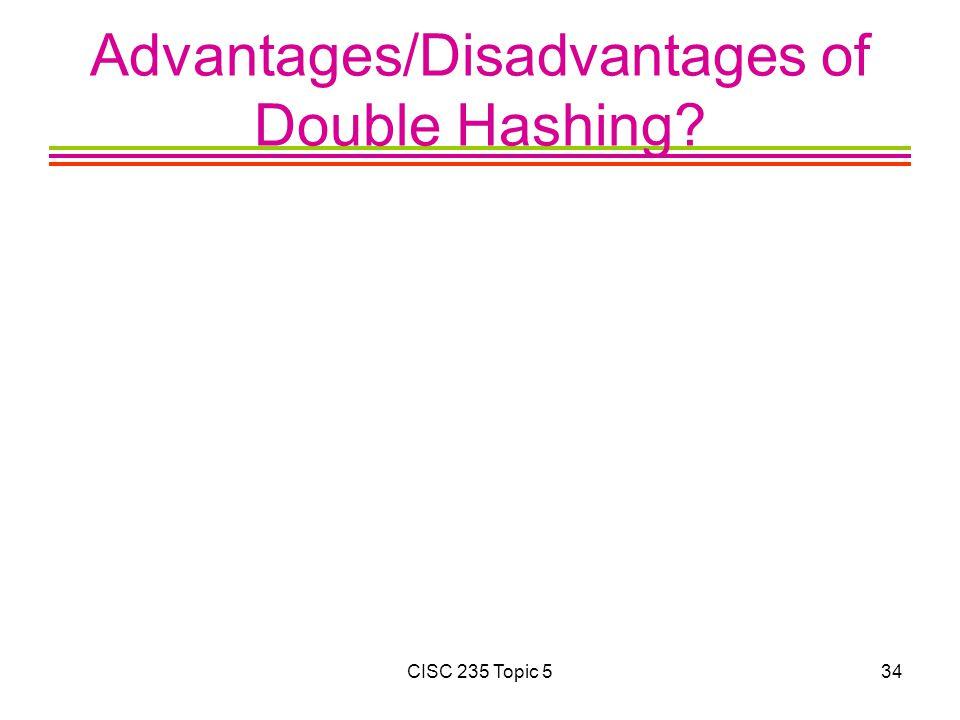 Advantages/Disadvantages of Double Hashing