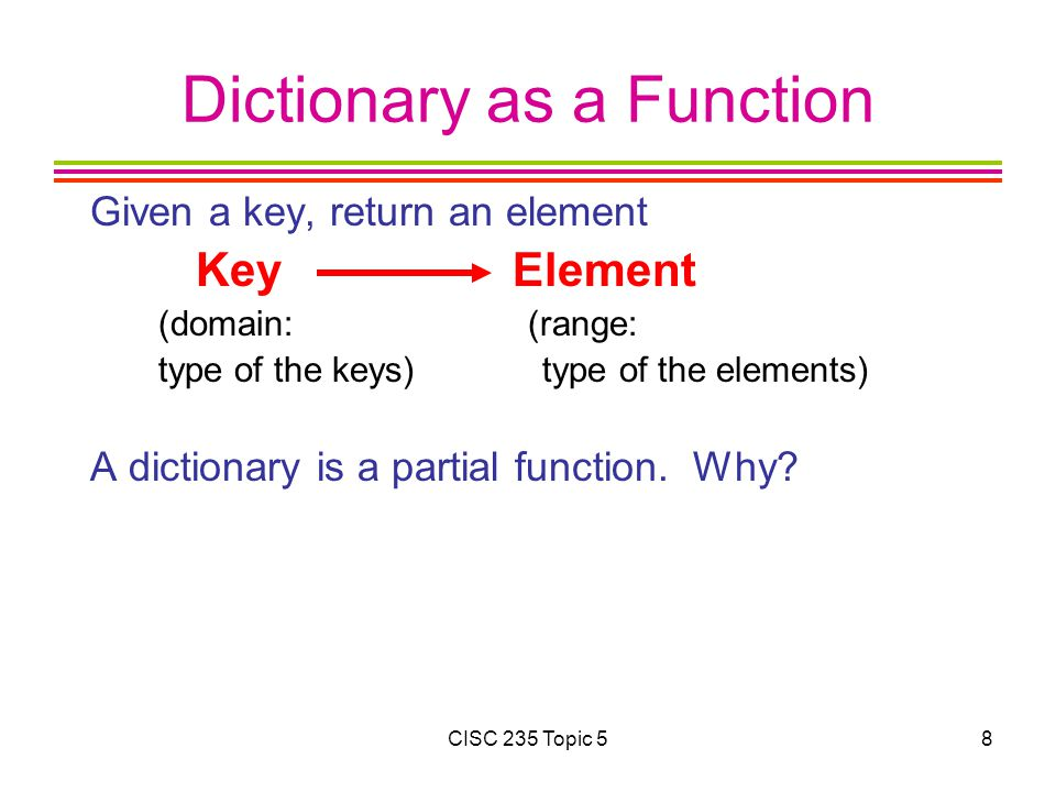 Dictionary as a Function