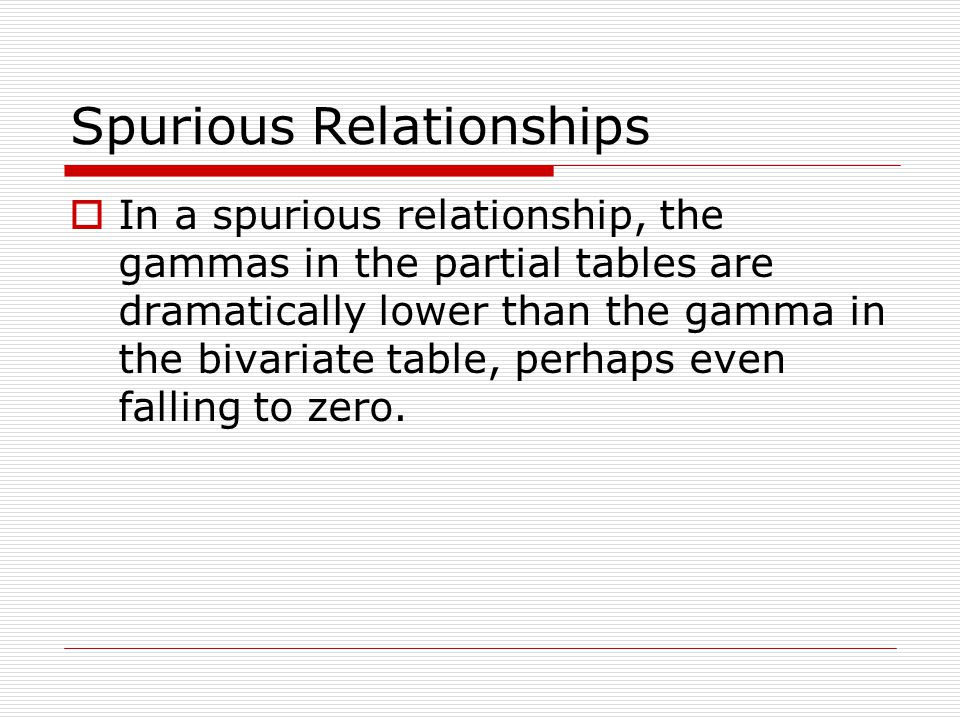 Spurious Relationships
