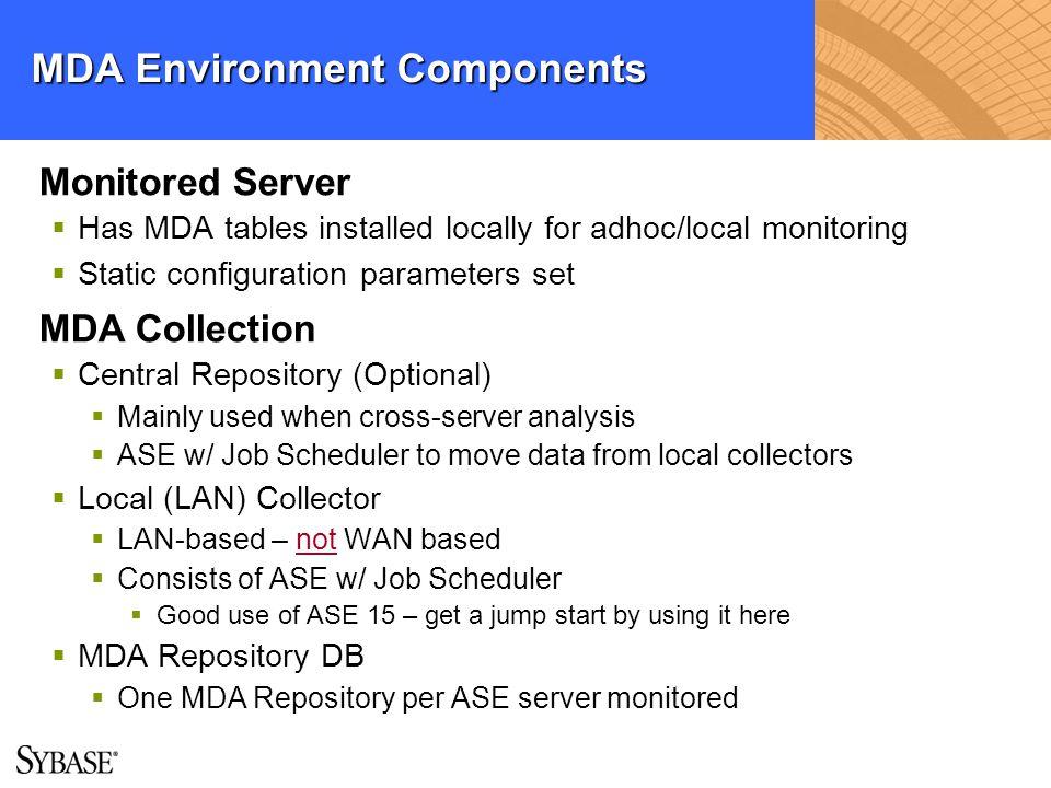 MDA Environment Components