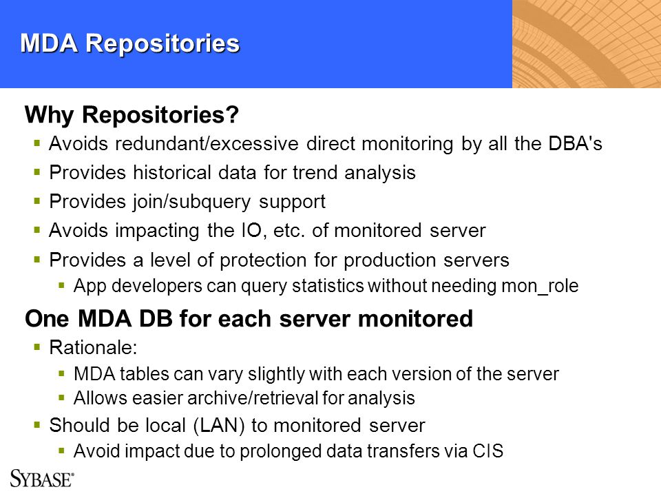 MDA Repositories Why Repositories