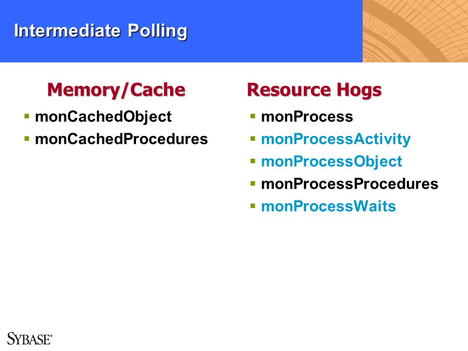Intermediate Polling Memory/Cache Resource Hogs monCachedObject
