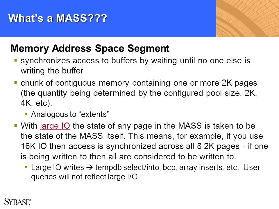 What's a MASS Memory Address Space Segment