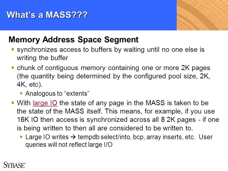 What's a MASS Memory Address Space Segment