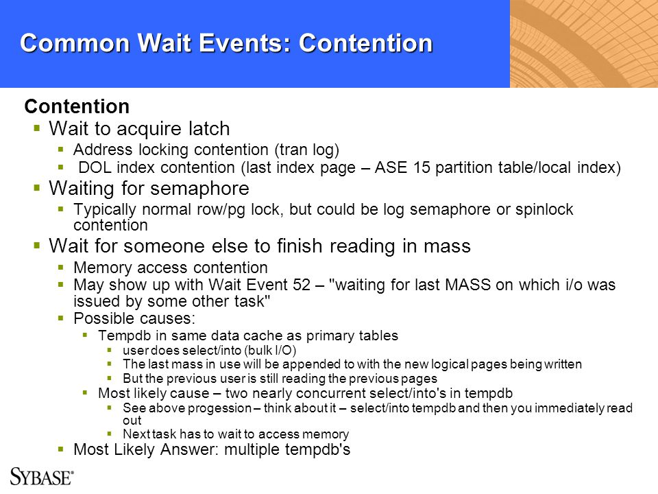 Common Wait Events: Contention
