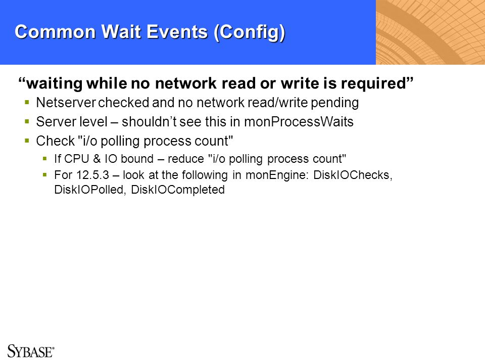 Common Wait Events (Config)