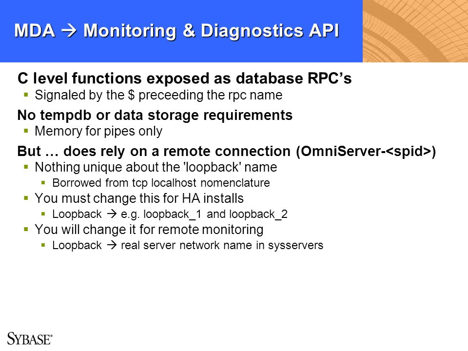 MDA  Monitoring & Diagnostics API